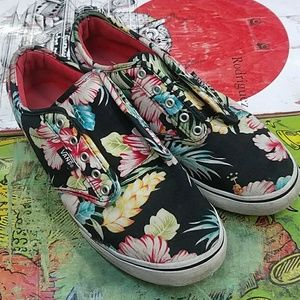 Vans floral pattern shoes